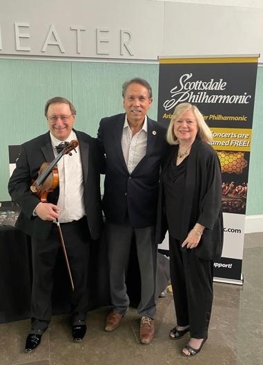 Carl Reiter, Mayor David Ortega, Joy Partridge